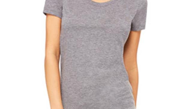 Bella B8413 Canvas Ladies Triblend Short-Sleeve Tee - Grey TriBlend; Small