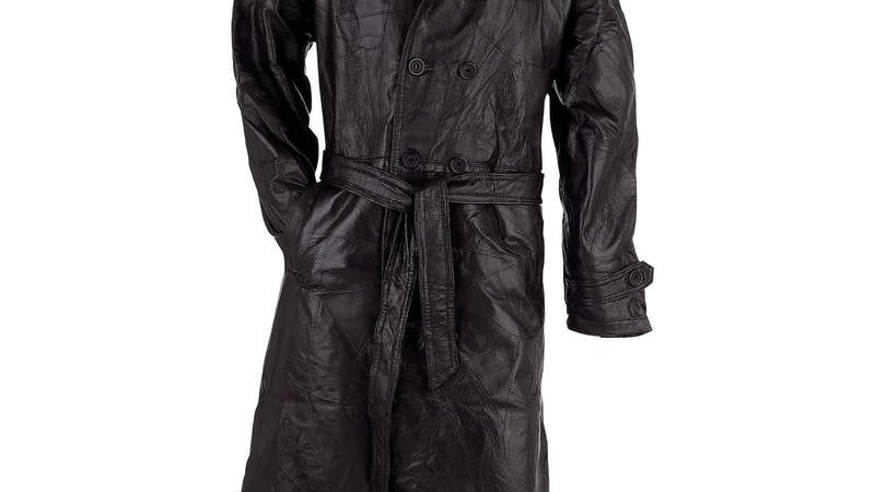 LEATHER TRENCH COAT - XL