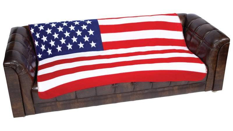 """50""""X60"""" US FLAG FLEECE BLANKET"""
