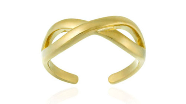 18K Gold Over Sterling Silver Infinity Design Toe Ring