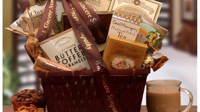 Gift Basket Drop 8113572 Sending Our Prayers Sympathy Gift Basket