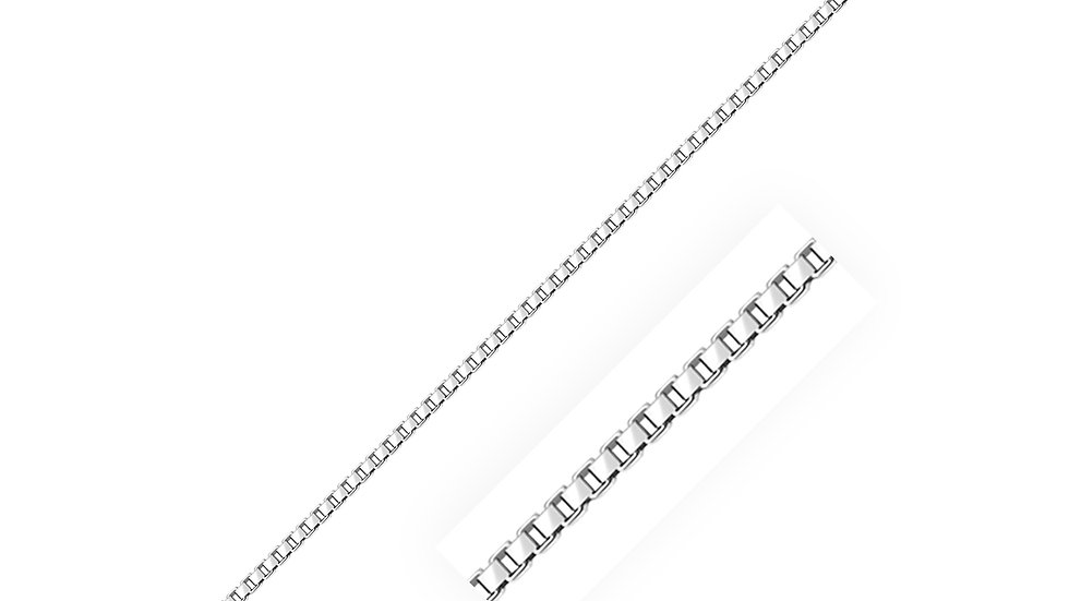 Sterling Silver Rhodium Plated Box Chain 1.8mm