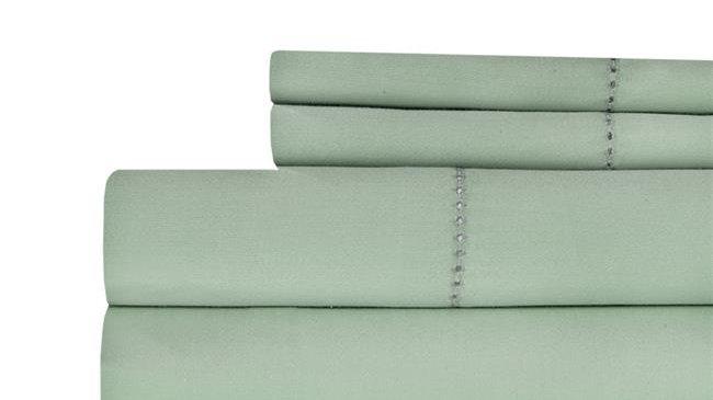 Aspire Linens 500 Thread Count 100 Percent Cotton Sheet Set - King - Sage