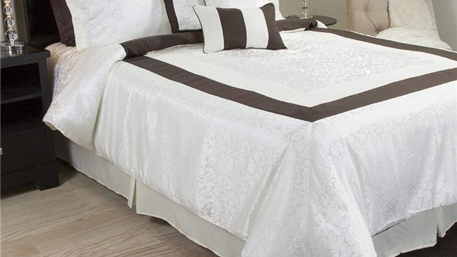 Bedford Home 66A-02961 Camille 9 Piece Comforter Set - Queen Size