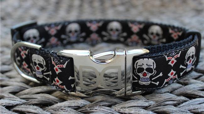 Billy Bones Dog Collar M/L