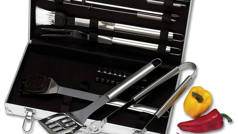 22PC STAINLESS STEEL BBQ SET