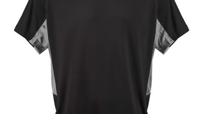 3N2 3020-01-L Kzone Curve Men T-Shirt; Black - Extra Large
