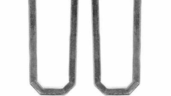 Sterling Silver Oblong Hoop Earrings