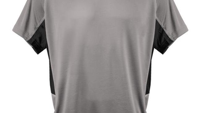 3N2 3020-05-L Kzone Curve Men T-Shirt; Gray - Large