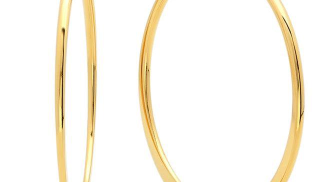 18K Gold Plated 40 Mm Hoop Earrings