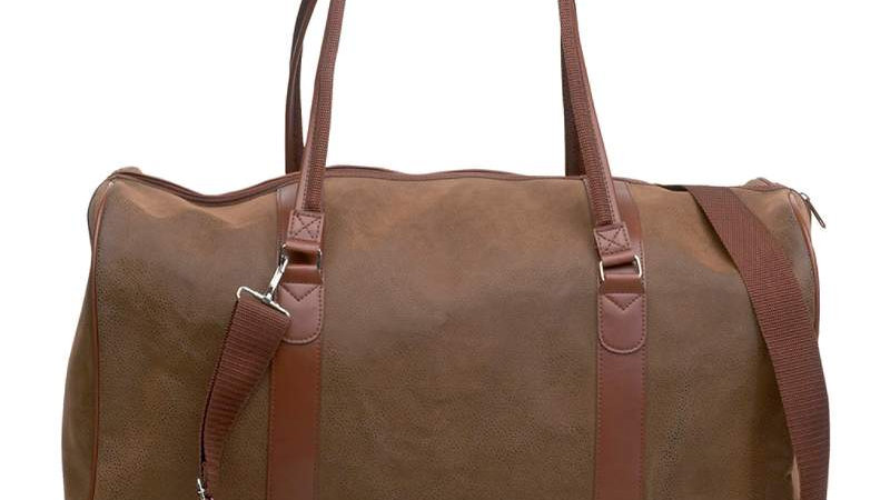 """21"""" FAUX LEATHER TOTE BAG"""