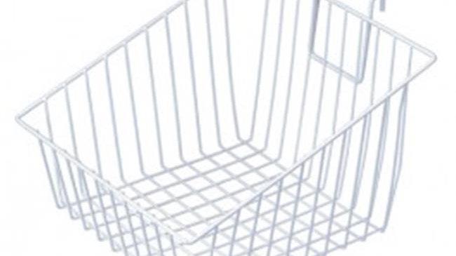 Quantum Storage GSP-SB12128 Slanted Grid Store Basket - 12 x 12 x 8 in.
