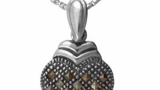 Sterling Silver Marcasite Heart Pendant