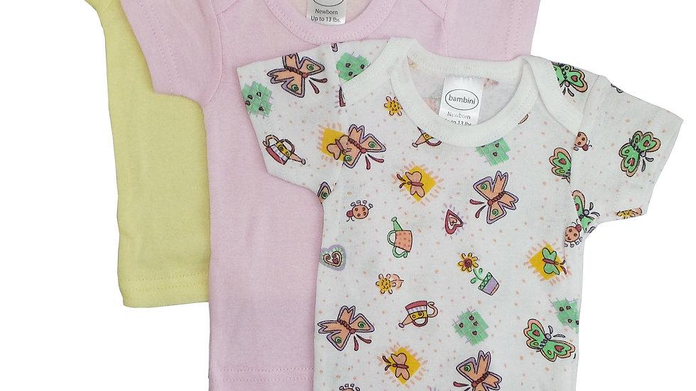 Bambini Girls Printed Short Sleeve Variety Pack
