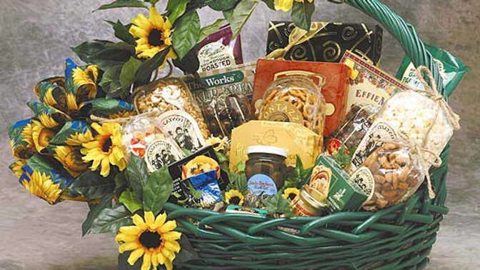 Sunflower Treats Gift Basket (Lg)