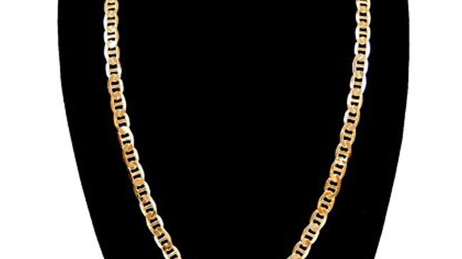 9 mm & 30 in. 14K Gold Plated Chain Link Necklace