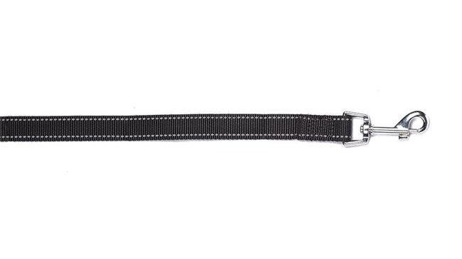 Bark Appeal BRNPL-3-4 Reflective Leash; Black - 0.75 in.