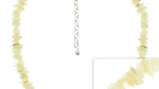 Sterling Silver .925 Genuine Mother of Pearl MOP Stone Chip Necklace