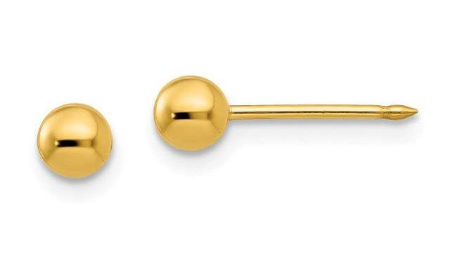 14K 4 mm Ball Post Earrings