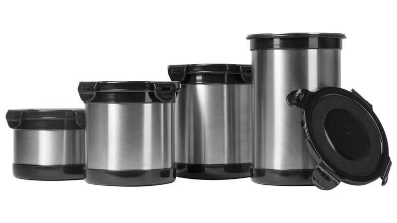 Wyndham House 4pc (2,3,4 &; 5 Cup) Stainless Steel Storage Containers