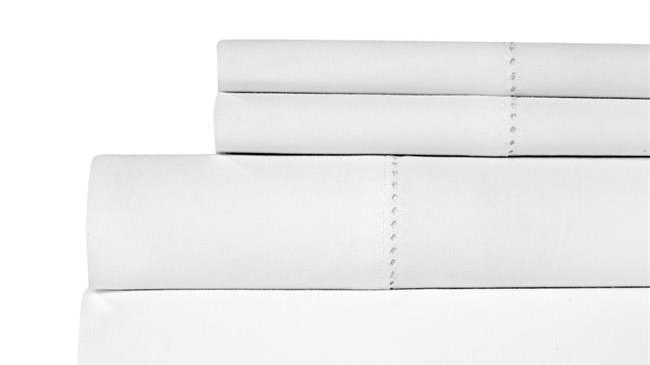Aspire Linens 500 Thread Count 100 Percent Cotton Sheet Set - King - White