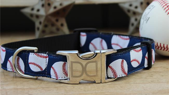 Baseball Dog Collar M/L