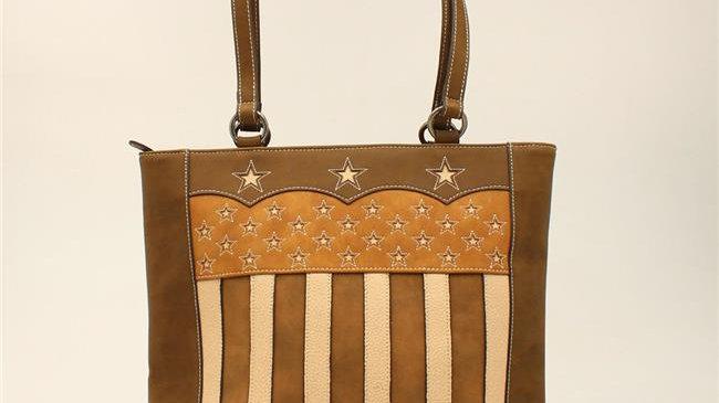 Blazin Roxx N770001302 Lady Liberty Tote; Brown - 13 x 12.50 x 4.50 in.