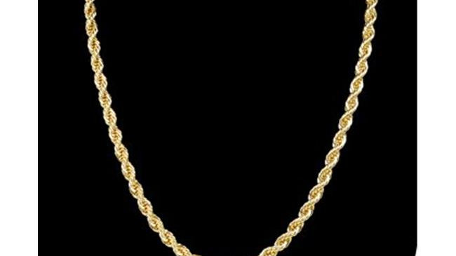 6 mm & 20 in. 14K Gold Plated Rope Chain Necklace