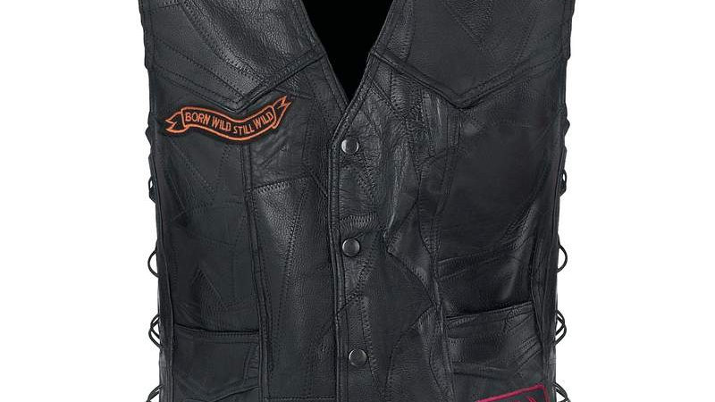 ROCK LEATHER BIKE VEST-S