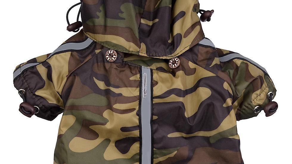 Reflecta-Sport Adjustable Reflective Weather-Proof Pet Rainbreaker Jacket