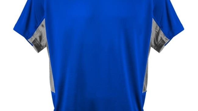 3N2 3020-02-YL Kzone Curve Men T-Shirt; Royal - Young Large