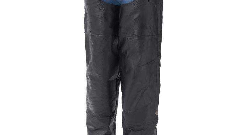 LEATHER MOTORCYCLE CHAPS-3X