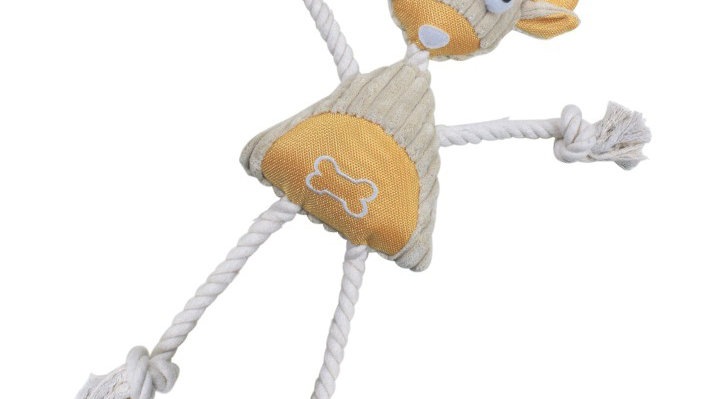 Jute and Rope Plush Pig Manniquen Dog Toy