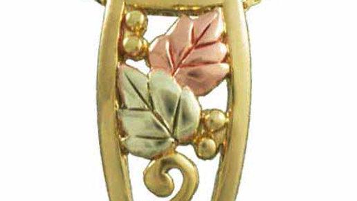 18K Gold over Sterling Silver Tri Color Leaf Necklace