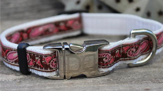 Boho Pink Dog Collar XS/S