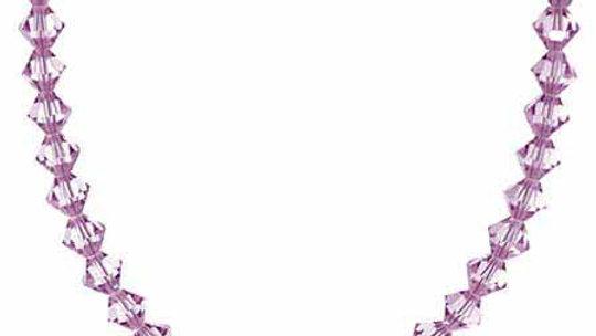 Genuine Lavender Swarovski Elements Necklace