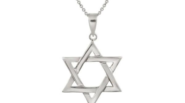 Sterling Silver Polished Star of David Pendant