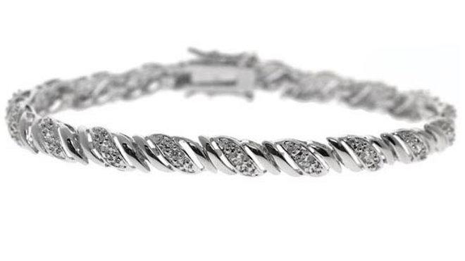 Sterling Silver CZ San Marco Bracelet