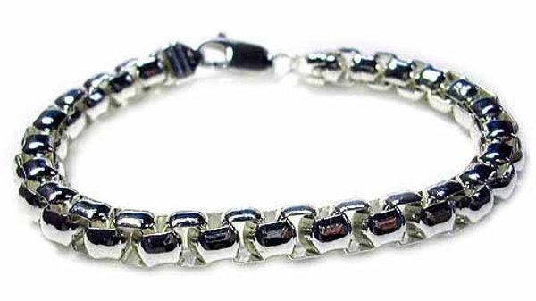 Sterling Silver Bold Box chain Bracelet