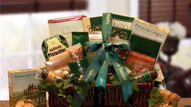 Gift Basket Drop 8113552 with Our Sincerest Sympathy Gift Basket