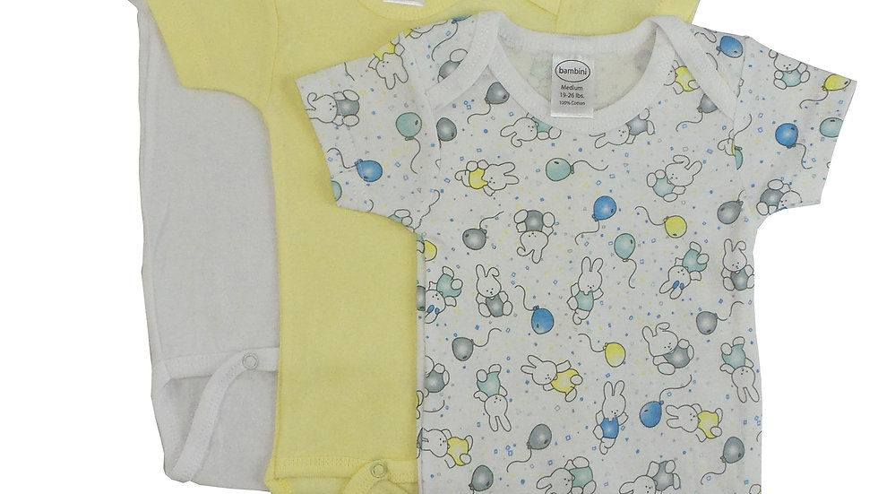 Bambini Girl's Printed Short Sleeve Variety Pack