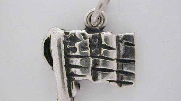 Silver American Waving * FLAG CHARM * USA