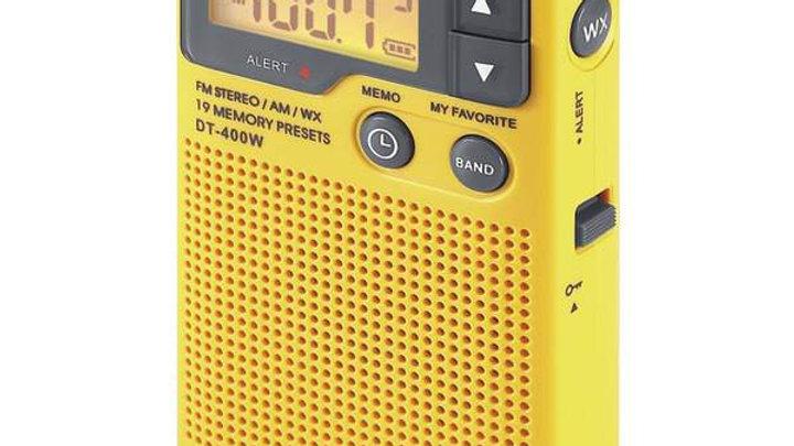 AM/FM PCKT RADIO W/WEATHR