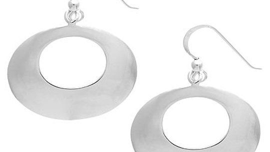Sterling Silver Disc Dangle Earrings