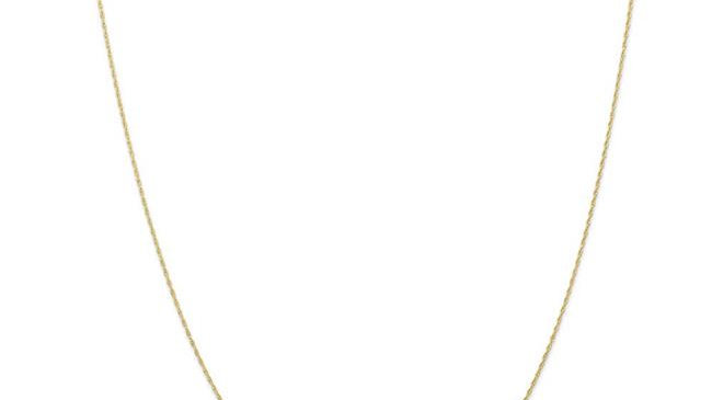 Quality Gold 10K5RY-20 0.5 mm x 20 in. 10K Yellow Gold Carded Cable Rope Chain