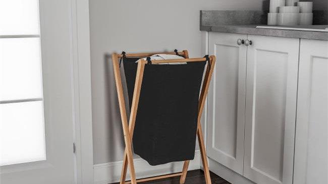 Lavish Home 83-108 Foldable Bamboo Laundry Hamper