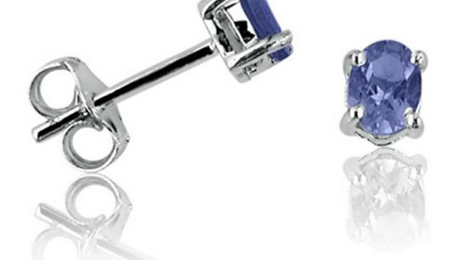 Amanda Rose Collection Tanzanite Stud Earrings Set in Sterling Silver .65 ct