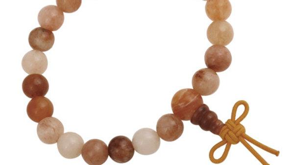 Orange Aventurine 8mm Power Bead Stretch Bracelet