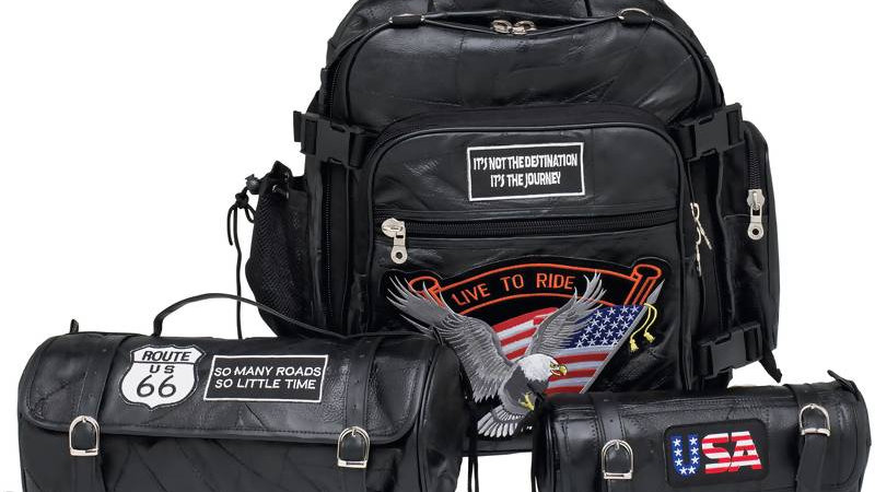 3PC  BUFFALO MOTORCYCLE BAG