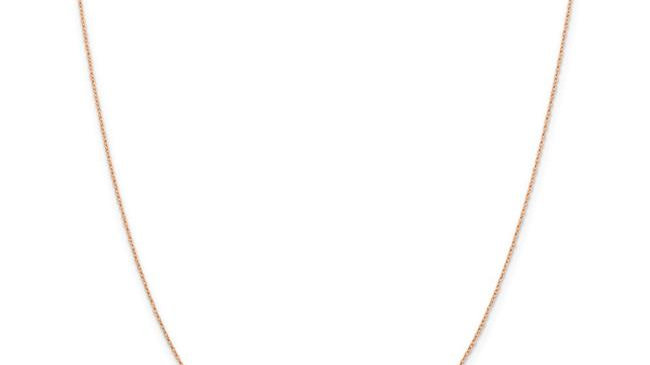 0.5 mm x 18 in. 14K Rose Gold Cable Rope Chain